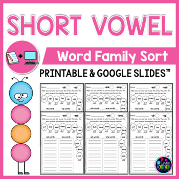 CVC Worksheets - Word Sort