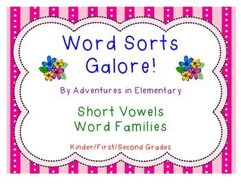 Word Sorts Galore: Short Vowels CVC Word Families