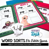 Word Sorts File Folder Literacy Games BUNDLE