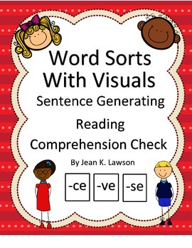 Word Sorts--Word Endings, Visual, Vocabulary, Generate Sen