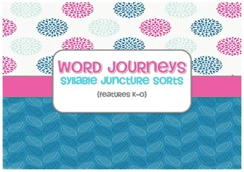Word Sorts - Word Journeys Super Pack - Sorts K to O