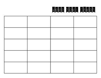 Word Study / Spelling Activities