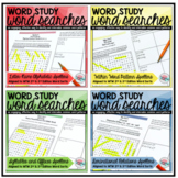 Word Study Activities Word Search Bundle