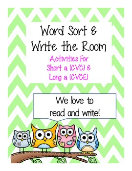 "Word Study:  Activities for Short and Long ""a"""