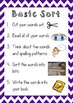 Word Study Activity Posters