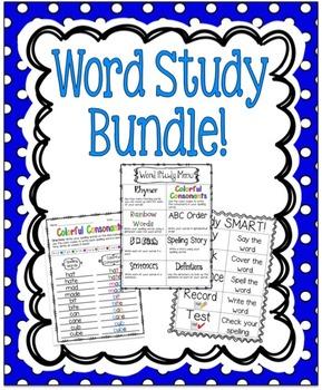 Word Study Bundle!