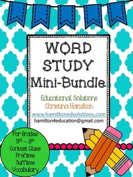 Word Study Mini-Bundle