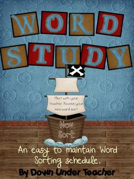 Word Study Sorting Schedule - Pirate Theme