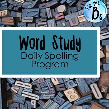 Word Study Spelling Program