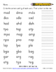Word Study Unit 2: -ad / -ap / -ag