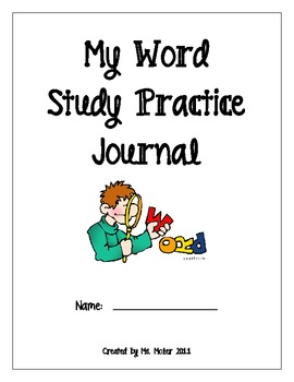 Word Study notebook for Words Their Way