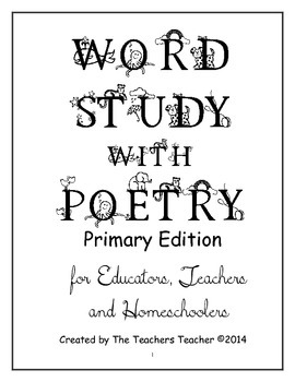 Word Study with Poetry Primary Edition
