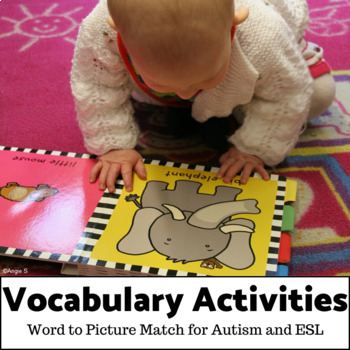 Word to Picture Matching Activities BUNDLE  for Autism and