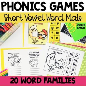Short Vowel Word Mats