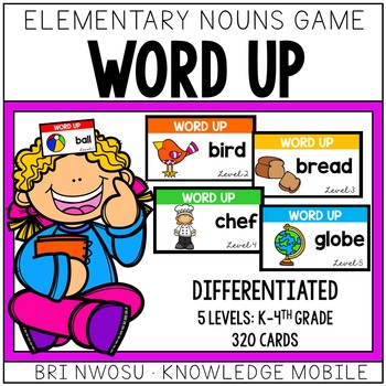 Word Up - Elementary Noun Game - 5 Levels - 320 Cards