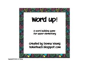 Word Up Game - differentiated ELA center or station activity