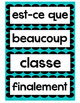 Word Wall- 20 common French Words- Mots frequents chevron