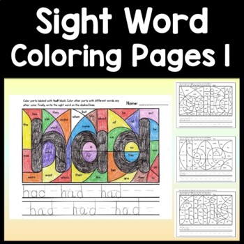 Sight Word Writing Practice {100 Words!}