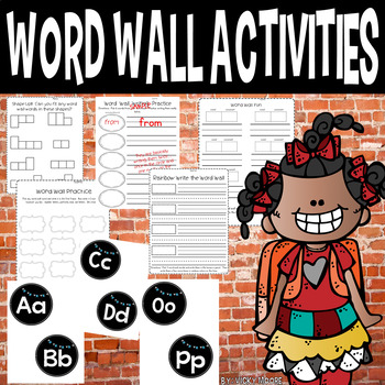 Word Wall Activity Pack