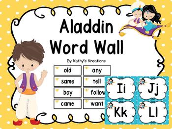 Word Wall -Aladdin (& 200 Fry Words)