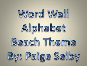 Word Wall Alphabet Beach Theme
