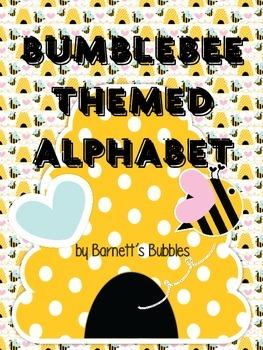 Word Wall Alphabet - Bumblebee Themed