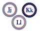 Word Wall, Alphabet Bundle (Nautical Navy Patterns and Cor