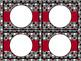 Word Wall Alphabet Cards - EDITABLE Black & Red Polka Dot
