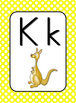 Wall Alphabet Cards  (White Dots on Primary Background)  (