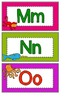 Word Wall Alphabet Cards with Matching Beginning Sound Pictures
