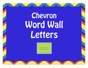 Word Wall Alphabet Headers- Chevron Primary Colors