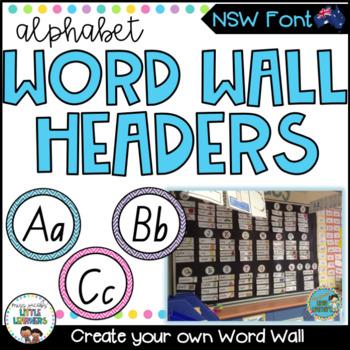 NSW Foundation Font Word Wall Alphabet Headers