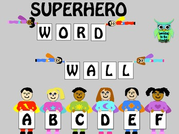 Word Wall Alphabet Headers- Superheroes
