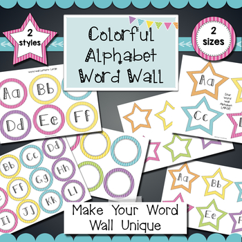Word Wall Alphabet Headings- 2  Colorful Styles