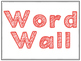 Word Wall Alphabet Labels