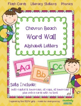 Word Wall Alphabet Letters {chevron beach}