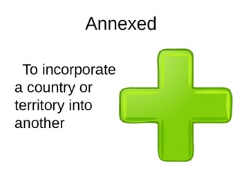 Word Wall - Annexation of Texas