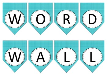Word Wall Banners