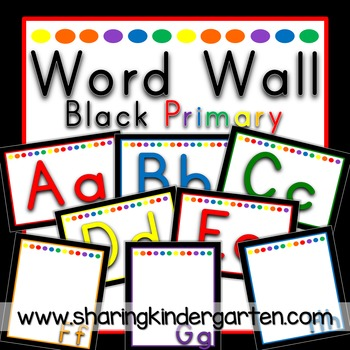 Word Wall {Black Primary}