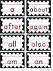 Word Wall - Black & White Polka Dot with Color Pictures an