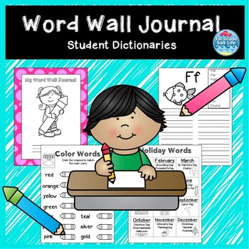 Word Wall Book / Student Dictionary / Word Wall Dictionary
