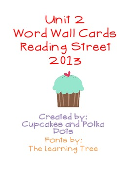 Word Wall Bundle- Reading Street Unit 2