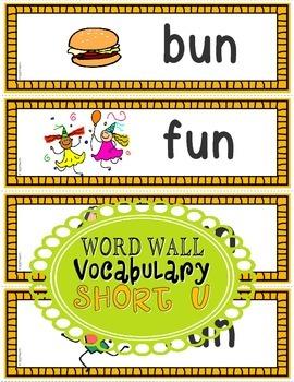 Word Families: CVC Phonics Sentence Strips Set 5 (Short U)