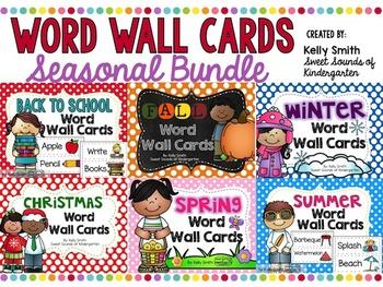 Word Wall Cards Bundle! {Seasonal}