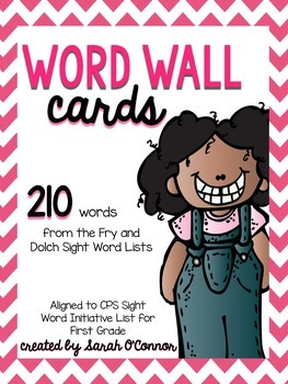 Word Wall Cards: First Grade