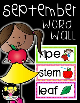 Word Wall Cards {September}