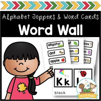 Word Wall Cards and ABC Toppers for Pre-K and Kindergarten