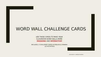 Word Wall Challenge Cards (English & Spanish) (Dual Language)