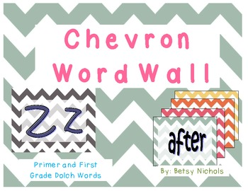 Word Wall - Chevron (Primer and First GradeDolch)