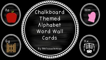 Word Wall Circle Cards-Chalk Theme